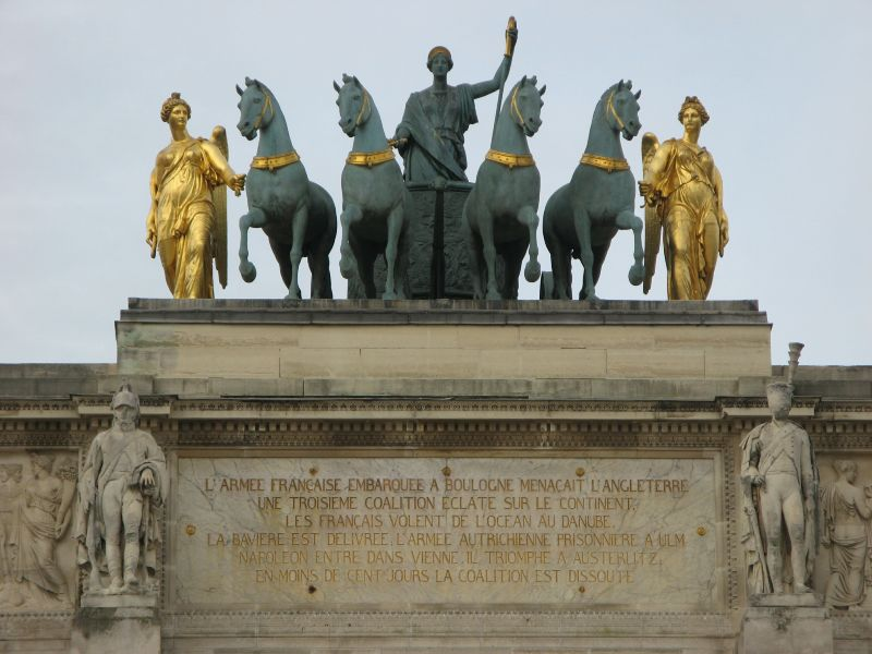 Quadriga am Arc du Carrousel