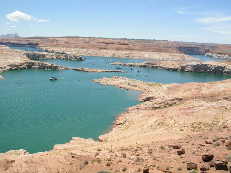 Boote am Lake Powell